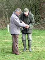 Picture: Learning to fly fish for trout